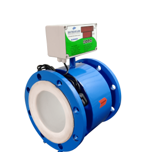 Electromagnetic Flow Meter With MS Body & Teflon Lining